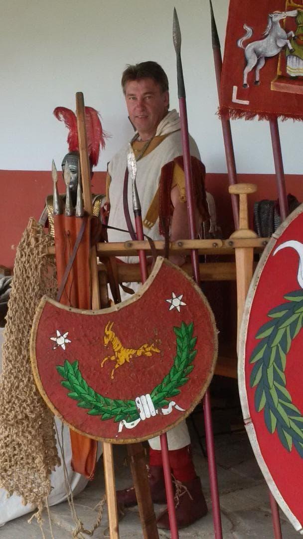 Darstellung ohne Pferd, Vortrag römische Reiterei